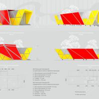 Конкурсный проект пункта приема вторсырья и модульной контейнерной площадки. Автор: Мокрова С.П. (Сочи)