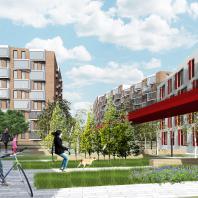 Проект жилого комплекса «Красная площадь» в Ижевске. Автор: Новоселова М.А. (Москва)