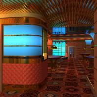 Проект интерьера казино «Royal», г. Кемерово. АФ-студия. Архитекторы: Дмитрий Антонов, Иван Фаткин