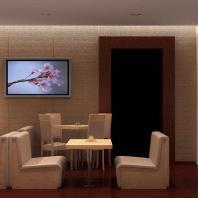 Проект интерьера суши-бара. Дом Кино «Москва». г. Кемерово. АФ-студия. Архитекторы: Дмитрий Антонов, Иван Фаткин