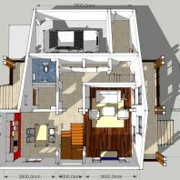 Проект двухэтажного одноквартирного дома с гаражем. АФ-студия. Архитектор: Дмитрий Антонов