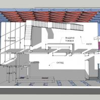 Торгово-офисное здание «Красный куб». 1-й этаж. АФ-студия. Архитектор: Дмитрий Антонов