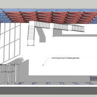 Торгово-офисное здание «Красный куб». 2-й этаж. АФ-студия. Архитектор: Дмитрий Антонов
