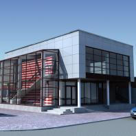 Проект двухэтажного универсального павильона, г. Новосибирск. АФ-студия. Архитекторы: Дмитрий Антонов, Иван Фаткин