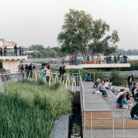 Набережная озера Кабан, Казань, Татарстан, РФ. Программа развития общественных пространств