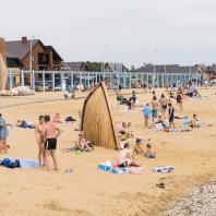 Пляж Камского моря, поселок Лаишево, Татарстан, РФ. Программа развития общественных пространств