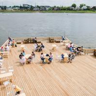 Терраса на пляже, Альметьевск, Татарстан, РФ. Программа развития общественных пространств