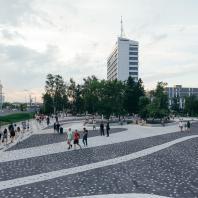 Площадь на Фестивальном бульваре, Казань, Татарстан, РФ. Программа развития общественных пространств
