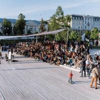 Амфитеатр в парке Черного озера, Казань, Татарстан, РФ. Программа развития общественных пространств