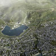 Мастер-план территории, прилегающей к Альметьевскому водохранилищу на р. Степной Зай. Консорциум под лидерством IND Architects