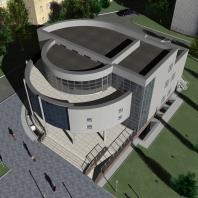 Проект административного здания по ул. Д. Ковальчук в Новосибирске. ООО «АПМ-Сайт»