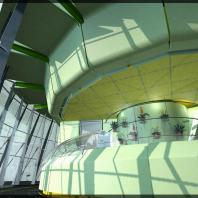 Проект интерьера павильона «Цветы». ООО «АПМ-Сайт»