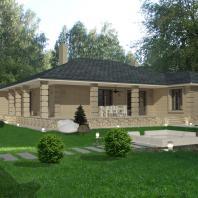 Проект индивидуального жилого дома. Новосибирск. АПМ-Сайт. Архитектор: Хохлачева С.Г.