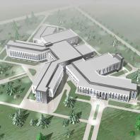 Конкурсный проект центральной районной больницы на 80 коек. АО «ГИПРОЗДРАВ» (Москва)