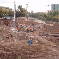 Строительство торгово-развлекательного центра «Европейский». Новосибирск. 2012 г.