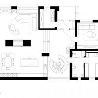 Частный жилой дом в Ростовской области. План 1-го этажа. Архитектурная студия Chado