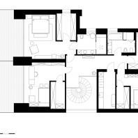 Частный жилой дом в Ростовской области. План 2-го этажа. Архитектурная студия Chado