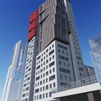 Проект жилого комплекса «ЧеховSky» в Новосибирске. Проектная организация: «АкадемСтрой»