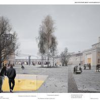 Концепция развития территории Придворно-Конюшенного ведомства с созданием музея современного искусства. Архитектурное бюро Studio Mishin