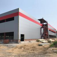Строительство здания фехтовального центра в Новосибирске. 2018 г.