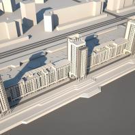 Проект многоэтажного жилого дома по ул. Прибрежной в Новосибирске. НГУАДИ (НГАХА). Архитекторы: Лемзякова М.В., Крутухина А.Я. (руководитель)
