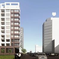 Проект многоэтажного жилого дома в условиях реконструкции квартала в Новосибирске. НГУАДИ (НГАХА). Архитекторы: Кошка А.М., Крутухина А.Я. (руководитель)
