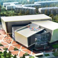 Общественно-торговый центр по пр. Ленина в Братске. ООО АПМ «Белый квадрат»