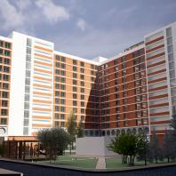 Проект многоэтажного жилого дома в Новосибирске. НГУАДИ (НГАХА). Архитекторы: Губин А.Г., Карадина Л.А. (руководитель)
