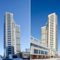 Многоэтажный жилой дом ЖК «Звездный» по ул. Кавалерийской в Новосибирске. ООО «Архитектурное бюро Штурбабиных»