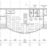 Проект концертно-развлекательного комплекса «Обской горизонт» на Октябрьской набережной в Новосибирске. НГАСУ. Архитекторы: Марков Е.Ю., Геронимус В.В. (руководитель)