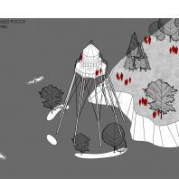 Конкурсная концепция туристского кластера в городе Глазове (Удмуртская Республика). 2020 г. Архитектурное бюро MAYAK Architects (Санкт-Петербург)