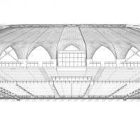 Концертно-эстрадный комплекс «Артек-Арена». Проектный институт «Арена». Разрез
