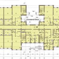 Детский сад в микрорайоне Подгорный г. Искитим, Новосибирская область. План 1-го этажа. Проектирование: ООО «АкадемСтрой НСК»