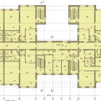 Детский сад в микрорайоне Подгорный г. Искитим, Новосибирская область. План 2-го этажа. Проектирование: ООО «АкадемСтрой НСК»