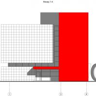 Концептуальный проект общественного здания «RED WALL». Фасад. Архитектор: Сергей Косинов. Новосибирск