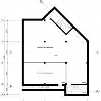 Концептуальный проект общественного здания «RED WALL». План подвала. Архитектор: Сергей Косинов. Новосибирск