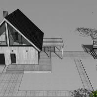 Проект «Дом для отдыха». Архитектор: Сергей Косинов. Новосибирск