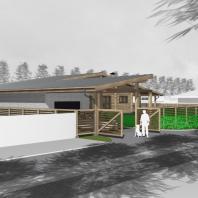 Проект одноквартирного дома с банным комплексом в п. Волчиха. Алтайский край. Архитектор: Сергей Косинов