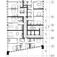 Проект жилого комплекса на набережной Ворошиловского района в г. Волгоград. 20 этаж. Малай Р.С. 2020 г.