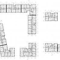 Проект жилого комплекса на набережной Ворошиловского района в г. Волгоград. План типовой. Малай Р.С. 2020 г.