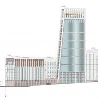 Проект жилого комплекса на набережной Ворошиловского района в г. Волгоград. Фасад. Малай Р.С. 2020 г.