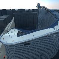Многофункциональный жилой комплекс с бизнес центром «Дом-Слалом». Shokhan Mataibekov architects. Архитектор: Матайбеков Ш.У.