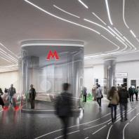 Проект станции московского метрополитена «Кленовый бульвар 2». Консорциум под лидерством Zaha Hadid Architects Ltd. 2020 г.