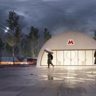 Проект станции московского метрополитена «Кленовый бульвар 2». Архитектурное бюро «Крупный план». 2020 г.