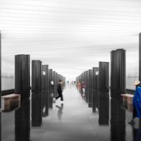 Проект станции московского метрополитена «Проспект Маршала Жукова». Архитектурное бюро Blank Architects. 2020 г.