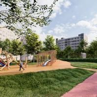 Концепция благоустройства придомовой территории «Двор с холмом». Проектная организация: «Народный архитектор» / YOarchitets