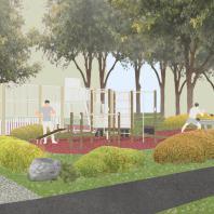 Концепция благоустройства придомовой территории «Дача во дворе». Проектная организация: Бюро «Дружба»