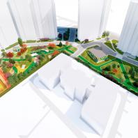Концепция благоустройства придомовой территории «Васильцовский цвет». Проектная организация: Бюро UTRO