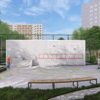 Концепция благоустройства придомовой территории «Двор – точка сборки». Проектная организация: АБ «Практика»
