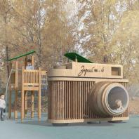 Парк оптических аттракционов в Красногорске. Детская площадка. Архитектурное бюро YOarchitects